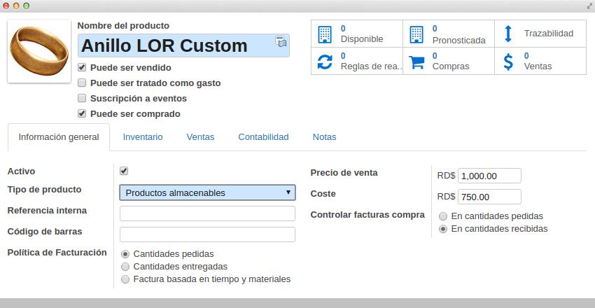 Funcionalidades_inventario_Todo tipo de productos (almacenables, consumibles y servicios)