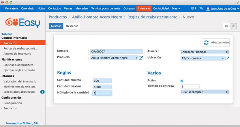 Funcionalidades_inventario_Trazabilidad completa e Inventario y valoración en tiempo real